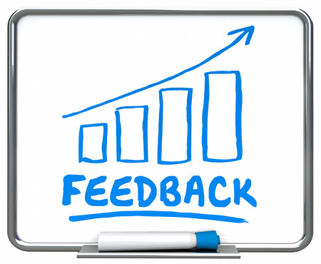 Feedback Comments Reviews Arrow Rising Trend 3d Illustration