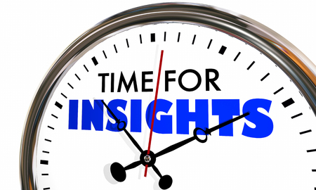 3 d イラストレーションを刻 々 と過ぎ洞察力情報知識時計の針のための時間