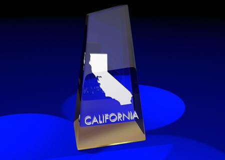 カリフォルニア カリフォルニア州賞ベスト トップ 3 d イラストレーション賞 写真素材