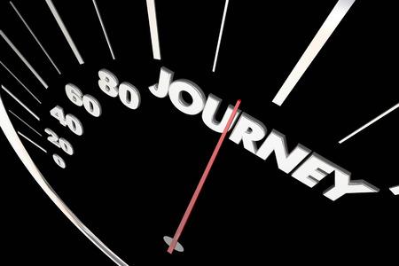 Journey Travel Adventure Speedometer Measure Results 3d Illustration 版權商用圖片 - 83927507
