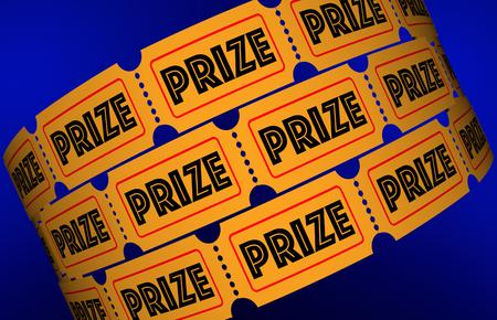 better: Prize Big Jackpot Win Award Raffle Tickets 3d Illustration