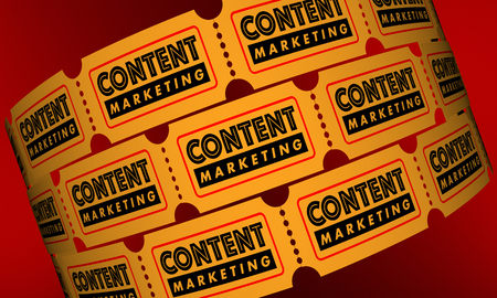 new: Content Marketing VIdeo Movie Tickets 3d Illustration