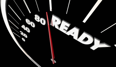 readiness: Ready Prepared Speedometer Measure Results 3d Illustration