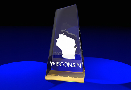 honored: Wisconsin WI State Award Best Top Prize 3d Illustration