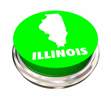 Illinois IL State Button Best Location Choice 3d Illustration