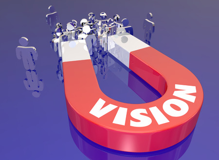 Vision Passion Magnet Attracting Customers Audience People 3d Illustration