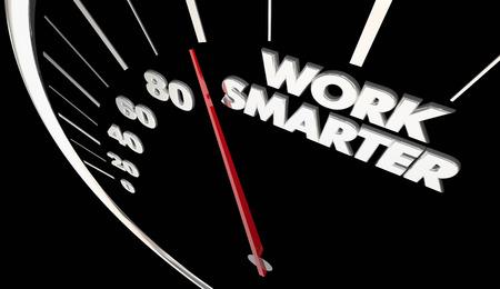 Work Smarter Efficient Productive Speedometer Measure Results 3d Illustration