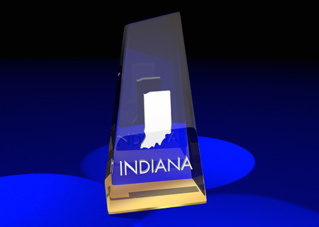 Indiana IN State Award Best Top Prize 3d Illustration