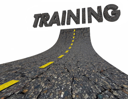 Training Lesson Education Road Word 3d Illustration