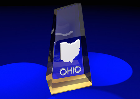 Ohio OH State Award Best Top Prize 3d Illustration 版權商用圖片