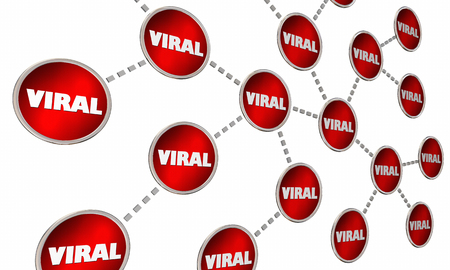 shared sharing: Viral Spreading News Internet Virus Connected Circle Network 3d Illustration