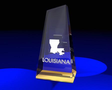 Louisiana LA State Award Best Top Prize 3d Illustration Stock Photo