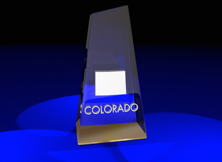 Colorado CO State Award Best Top Prize 3d Illustration