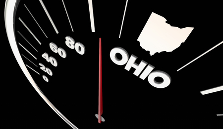 Ohio OH State Speedometer Destination Best Location 3d Illustration