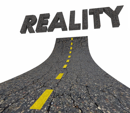 Reality Road Word Real World 3d Illustration
