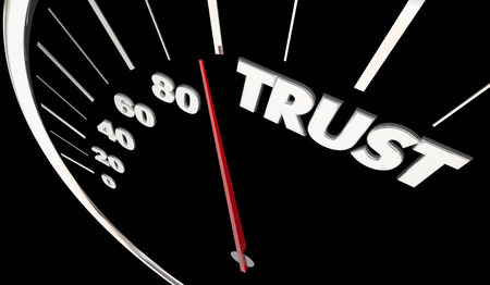 Trust Honesty Reliable Speedometer Measure Results 3d Illustration Stock Photo