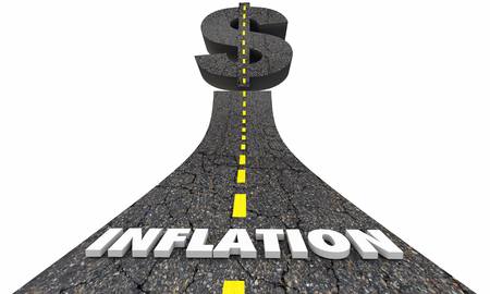 Inflation Road Dollar Sign Prices Costs Rising 3d Illustration
