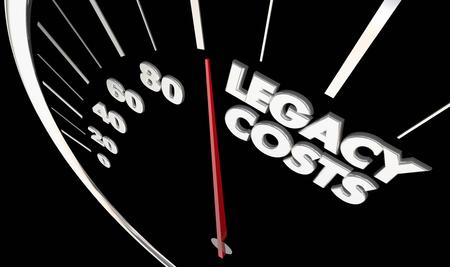 레거시 비용 측정 영향 부작용 지속 효과 3d 일러스트레이션 스톡 콘텐츠