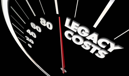 Legacy Costs Measure Impact Liability Lasting Effects 3d Illustration Фото со стока