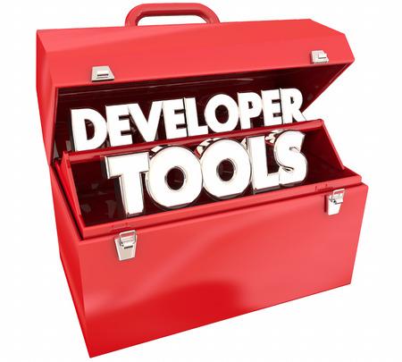 개발자 도구 리소스 프로그래밍 소프트웨어 도구 상자 3d Illustration.jpg 스톡 콘텐츠