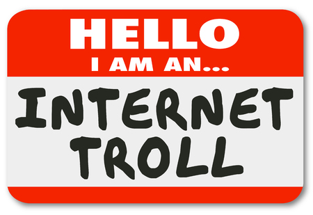 Internet Troll Mean Comments Name Tag Sticker 3d Illustration Zdjęcie Seryjne