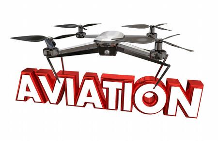 Aviation Drone Flying Flight Device 3d Illustration