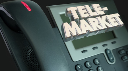 Telemarket Phone Call Sales Solicitation 3d Illustration