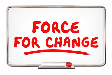 Force for Change Adapt Improve Innovate 3d Illustration Banco de Imagens