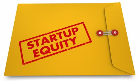 Startup Equity Yellow Envelope Stock Options 3d Illustration