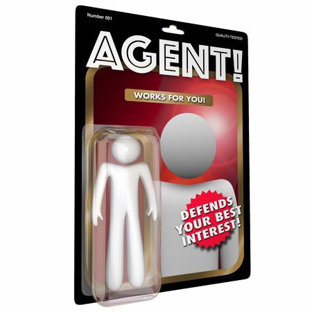 Agent Action Figure Representative 3d Illustration