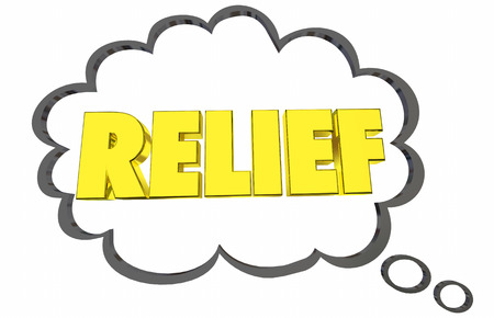 Relief Thought Cloud Relieve Stress Worry Help 3d Illustration