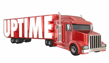 Uptime Truck Available Work Perform Potential 3d Illustration
