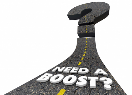 Need a Boost Increase Speed Road Improvement Performance 3d Illustration Stock Photo