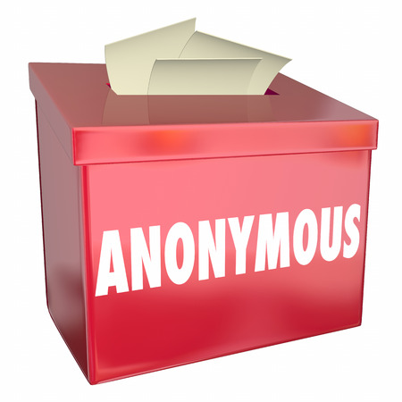 Anonymous Suggestion Comment Box Feedback Private No Name 3d Illustration
