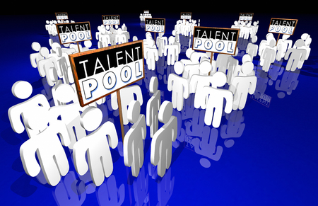 Talent Pool Job Candidates Skills Experience People 3d Illustration