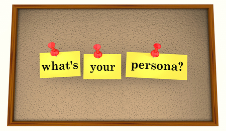 Whats Your Persona Profile Sticky Notes Question 3d Illustration Stok Fotoğraf