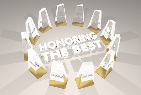 Honoring the Best Awards Ceremony Recognition 3d Illustration