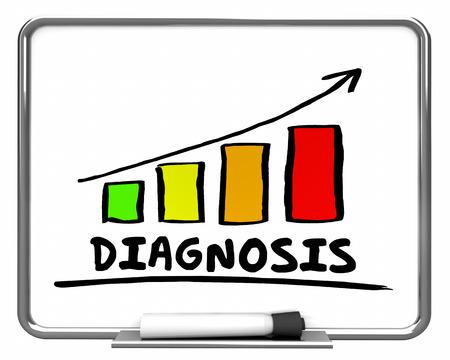 Diagnosis Results Bar Chart Graph Rising 3d Illustration 版權商用圖片 - 84872303