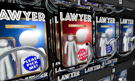 弁護士を選択最高の法的支援 3 d イラストレーション 写真素材