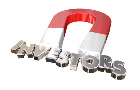 Investors Magnet Attracting Funding Letters Word 3d Illustration