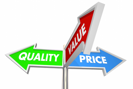 Quality Price Value 3 Way Signs Best Choices 3d Illustration Stock Photo