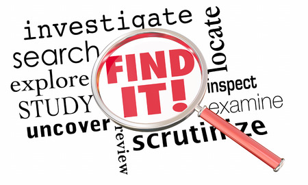 found it: Find It Magnifying Glass Research Investigate 3d Illustration