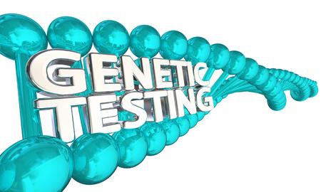 Genetische Testing DNA Onderzoek Gezondheid Ziekte Erfelijkheid 3d Illustratie