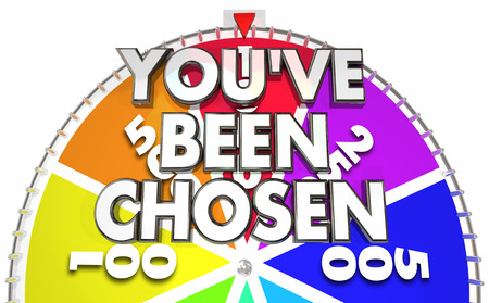 Youve Been Chosen Spinning Game Show Wheel Winner 3d Illustration