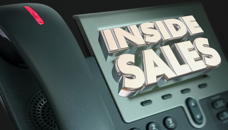 Inside Sales Telephone Selling Marketing 3d Illustration Stock fotó
