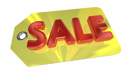 Sale Price Tag Discount Price Offer 3d Illustration Stock Photo