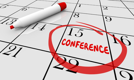Conference Date Day Calendar Circled Planning Schedule 3d Illustration