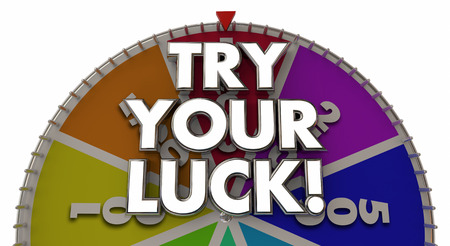 Try Your Luck Spinning Game Show Wheel 3d Illustration