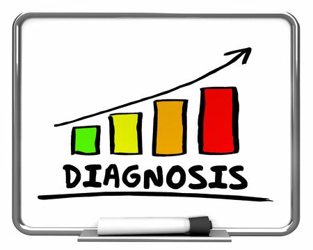 bar: Diagnosis Results Bar Chart Graph Rising 3d Illustration