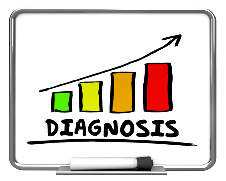 Diagnosis Results Bar Chart Graph Rising 3d Illustration